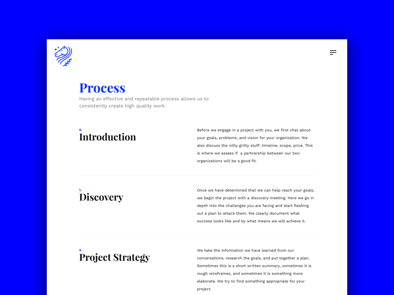 Process typography work in progress wip ui design ui web design web site web studio agency portfolio process