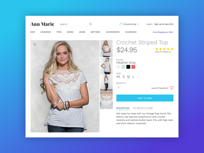 E-Commerce Clothing Store ecommerce product site web web site web design ui ui design shop credit card payment purchase