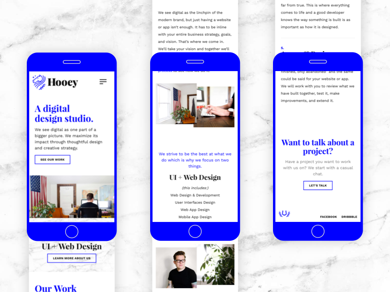 Hooey Mobile ios iphone mobile typography ui design ui web design web site web studio agency portfolio