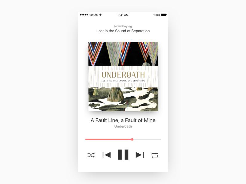 Music Player Concept web design web mobile ios music player music ui design ui