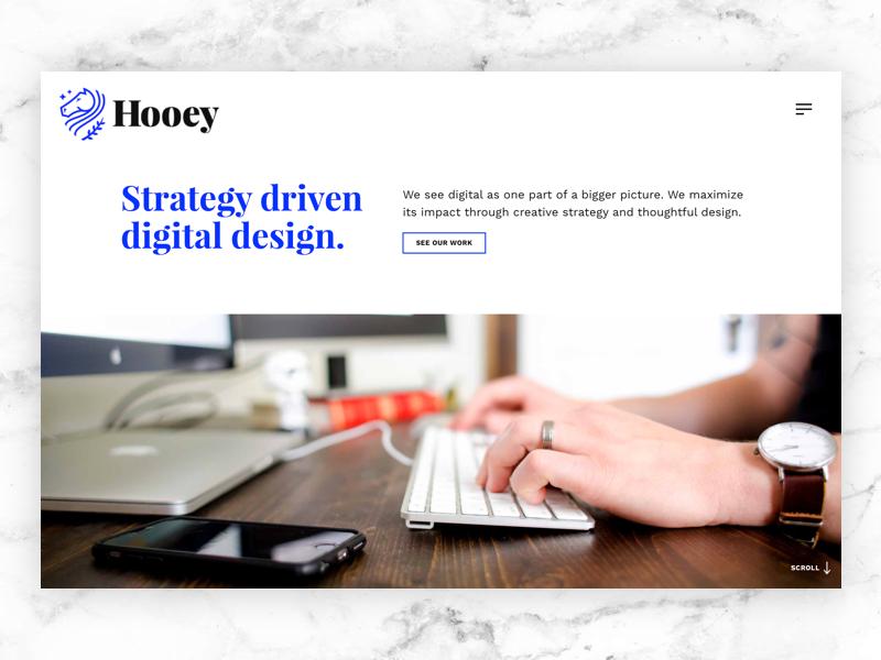 Updated Homepage web site web design web design ui typography studio portfolio agency