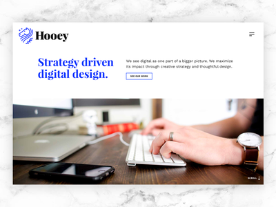 Updated Homepage web site web design web design ui typography studio portfolio agency