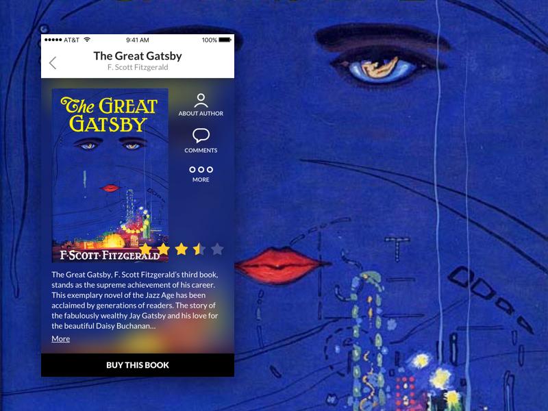 Book App web design ui design web ui rating book mobile ios