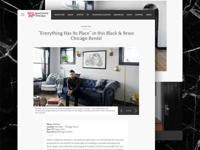Apartment Therapy Redesign experiment fun redesign apartment therapy ui design ui web design web