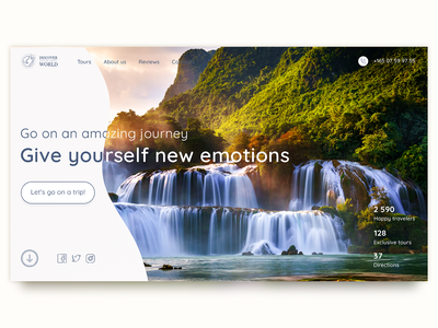 Amazing journey   First screen trip nature travel journey webdesign advertising first screen design typography ux ui colorful designer web