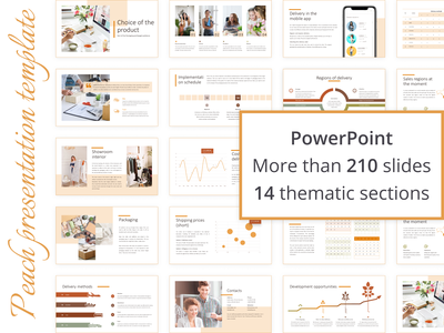 Peachy mood   Presentation powerpoint template powerpoint presentation powerpoint vector branding logo illustration advertising design colorful designer template presentation template presentation design presentation peach