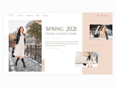 Clothing store   First screen photoshop figma online spring dress webdesigner shopify clothing store landing typography ux ui webdesign first screen design web colorful designer