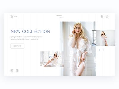 Lingerie store   First screen lingerie website первый экран белье одежда магазин web design advertising first screen webdesign design ux ui typography web colorful designer