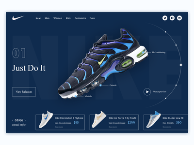 Nike   First screen website design inspiration online store online shop store clothes nike website advertising first screen webdesign design ux ui typography web colorful designer