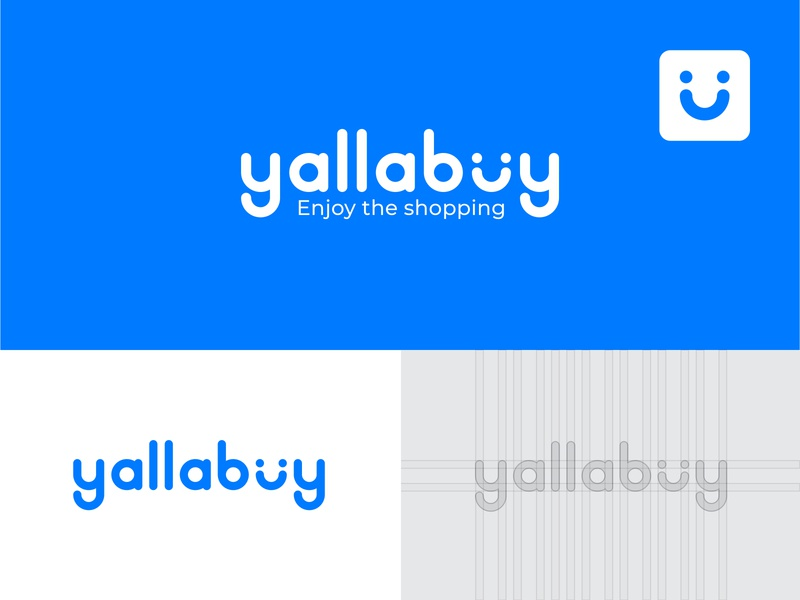 yallabuy logo design blue illustrator logodesign design ecommerce icon vector branding logo