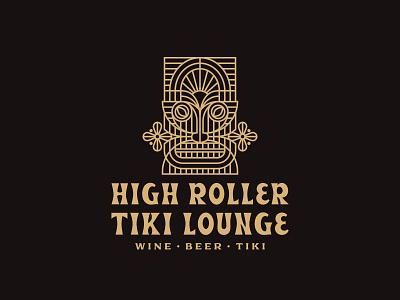 High Roller Tiki Lounge tiki bar bar tiki branding and identity branding concept branding design branding logo design logodesign logo
