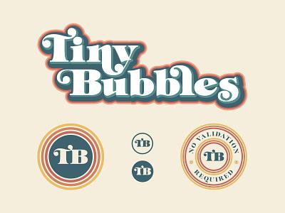 Tiny Bubbles Logo System logo system logo design logo adobeillustrator vector adobe illustrator branding and identity branding