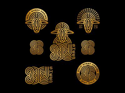 Gold Sheep Design Logo System music branding and identity illustration brand design adobeillustrator vector adobe illustrator logo design logo