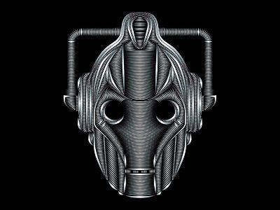 Cyberman adobe illustrator vector illustration vector scifi cyberman doctor who