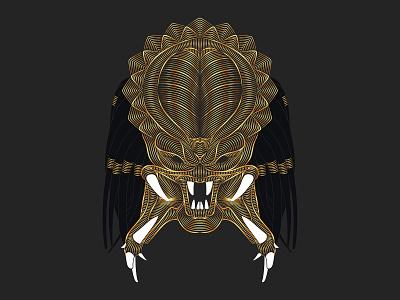Predator scifi sci-fi vector adobe illustrator adobeillustrator