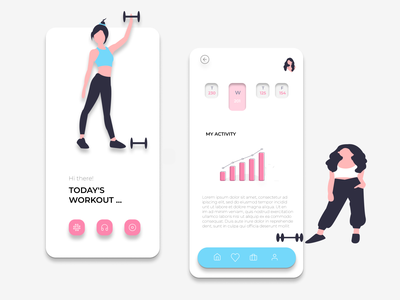 Workout tracking App icon typography website people menu app design figma front-end app design mobile workout app workout