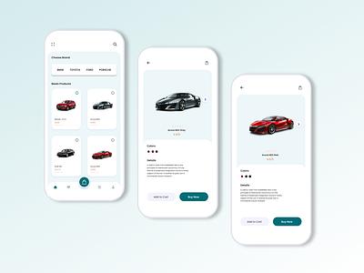 Automotive app adobe xd diler buy rental car app website design figma