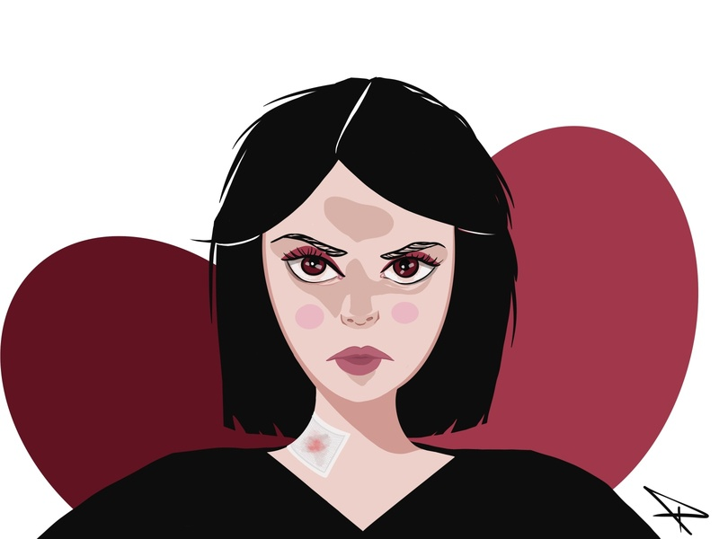 Ücra illustration art illustrations color character scary pixel pink paint artwork art illustrator digital illustration woman design red digital art fire illustraion digital