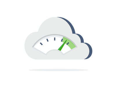 Cloud Performance devops icon flat illustration gauge tachometer internet performance cloud