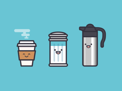 Team Coffee creamer sugar coffee icon illustration