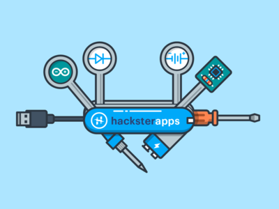 Hackster Apps icon soldering usb electronics battery hardware tools swiss army