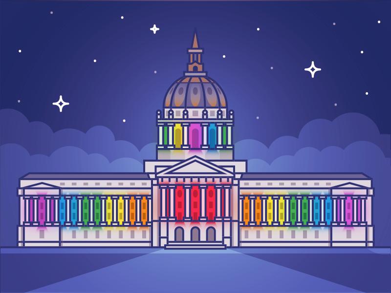 City hall pride dribbble