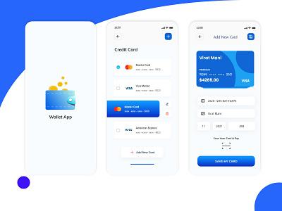 Wallet App Design ux desgin ui design
