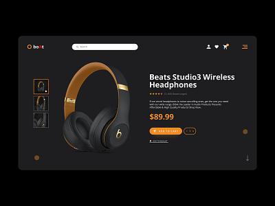 Product Design (Wireless Headphone) ui ux design icon app branding ux design ux desgin graphic design ui design