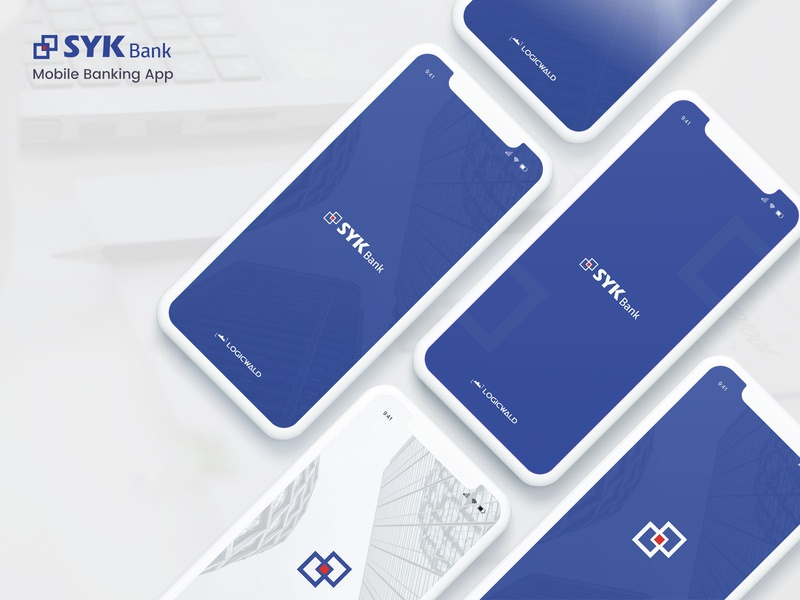 Splash screens - Syk bank mobile banking app mobile ui app design ux splash screen mobile apps