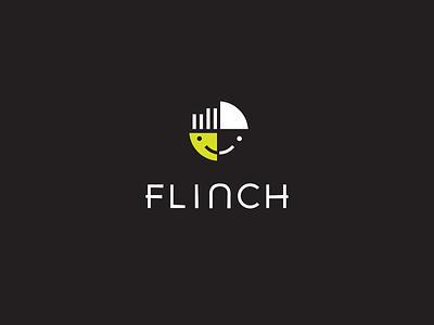 Flinch neon colors branding brand typography custom type logo icon face character app icon app