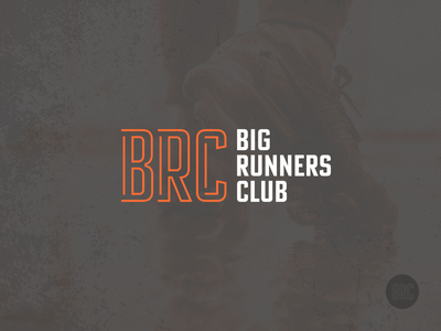 Big Runners Club competitor orange paths roads running typography design athletics sports athlete branding logo