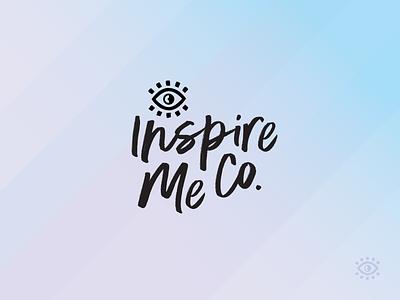 Inspire Me Co. inspire feminine female lifestyle brand lifestyle kits retail sight eye goals dreams manifest vision purple gradient purple blue design bright logo branding