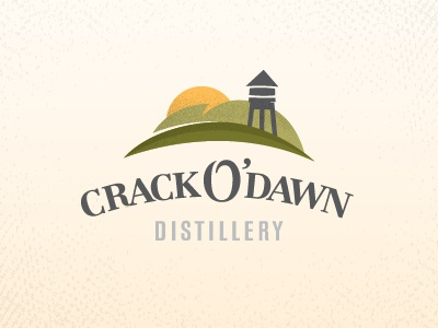 Crack O' Dawn Distillery icon rustic country dawn crack hills sun farm distillery