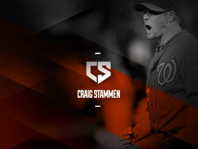 Craig Stammen Branding branding pitcher athlete black orange sports baseball s c