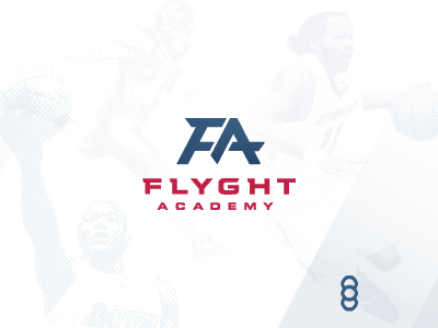FLYGHT Academy Logo sports athletics academy flight athlete sports medicine physical therapy performance logo red blue