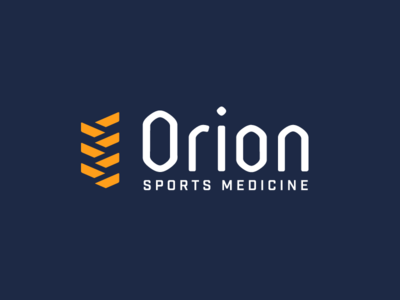 Orion Sports Medicine athlete physical therapy sports medicine gold navy braid