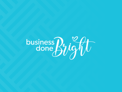 Business Done Bright blue love heart light bright happy business