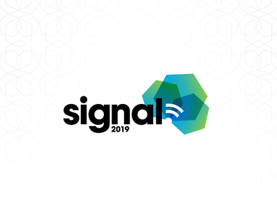 Signal PG 19 bright color overlay transparency event logo logo branding technology tech conference tech