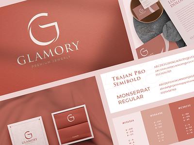 Glamory Logo Design vector illustration logodesign logo design branding clean design design logo brand identity luxury logo modern logo jewerly logo jewerly design logo design visual identity branding