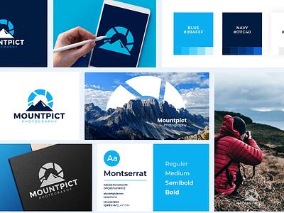 Mountpict Logo ui vector illustration logodesign logo design branding clean design design logo photo logo modern logo brand guide branding photography logo logo design
