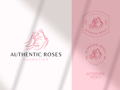 Authentic Roses Logo vector illustration logodesign logo design branding clean design design logo cosmetics logo beauty logo woman logo flowers logo branding logo design