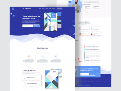 E-Bookyo Landing Page agency business booking design landing page dribbble best shot minimal clean new trend trendy design agency websites 2020 trend design illustration
