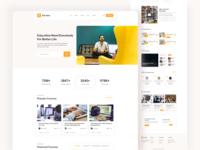 Education Platform Website Landing Pages
