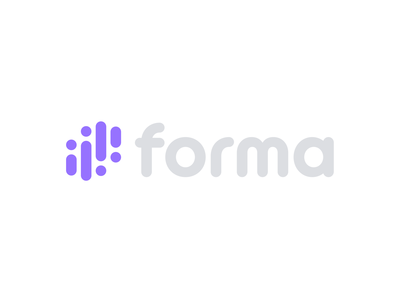 Forma Logo fintech finance bitcoin cryptocurrency crypto logo design logotype soft modern clean simple identity design branding logo