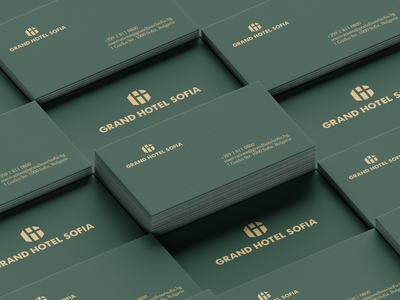 Business Card Grand Hotel Sofia businesscard business card business card design branding design branding identity design logotype brand identity