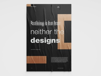 """Poster Design """" Nothing is for free """" typography poster typography art typographic typogaphy design minimalism minimalist minimalistic poster a day poster art poster design poster post"""