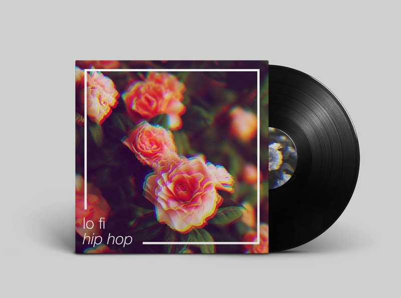 Spotify Series. lo fi hip hop. spotify cover photoshop music rgb split playlist cover lofi lofi hip hop spotify album art ux ui passion project design