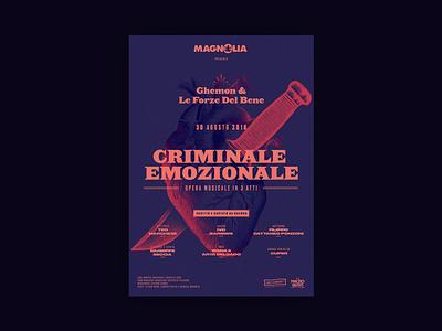 Ghemon - Criminale Emozionale @ Magnolia 2018 event magnolia milano music ghemon poster