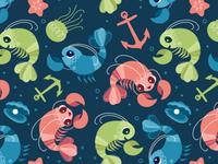 Pattern Design - Lobsters
