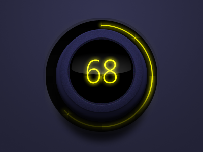 Blue Dial ui blue rotate yellow glow volume level dial